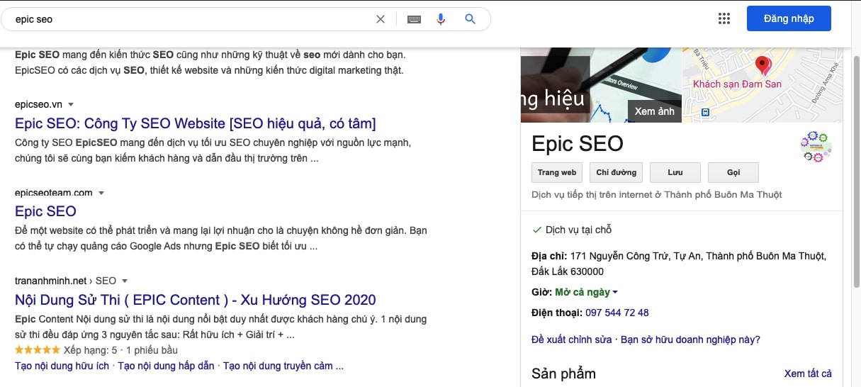 epic seo knowgrahp