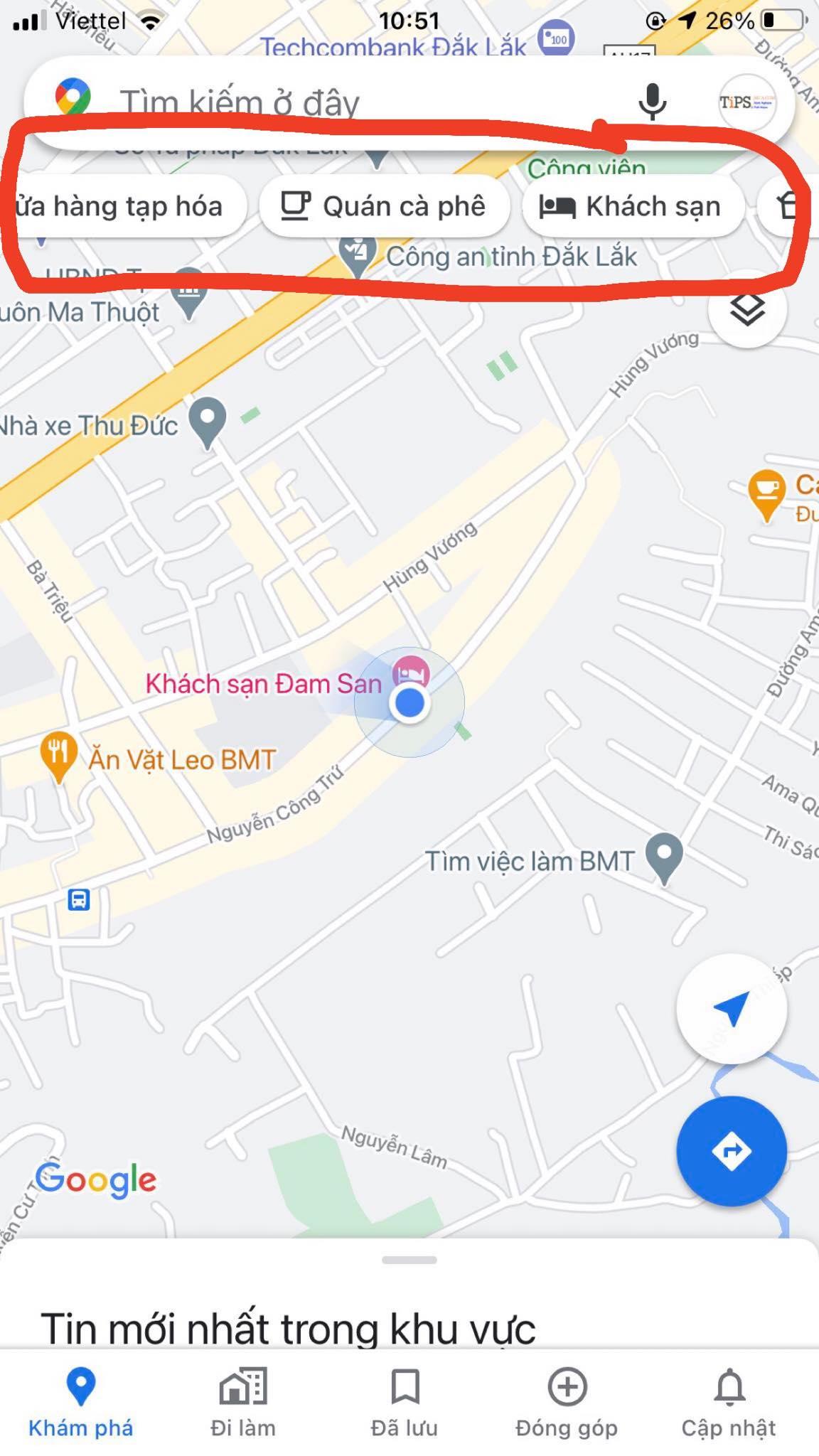 cac cua hang google maps